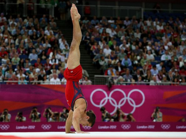 Jake Dalton of the United States competes on the floor in the Artistic Gymnastics Men's Floor Exercise final on Day 9 of the London 2012 Olympic Games at North Greenwich Arena on August 5, 2012 in London, England.