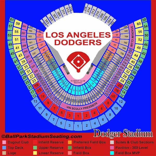 La dodgers stadium seating chart