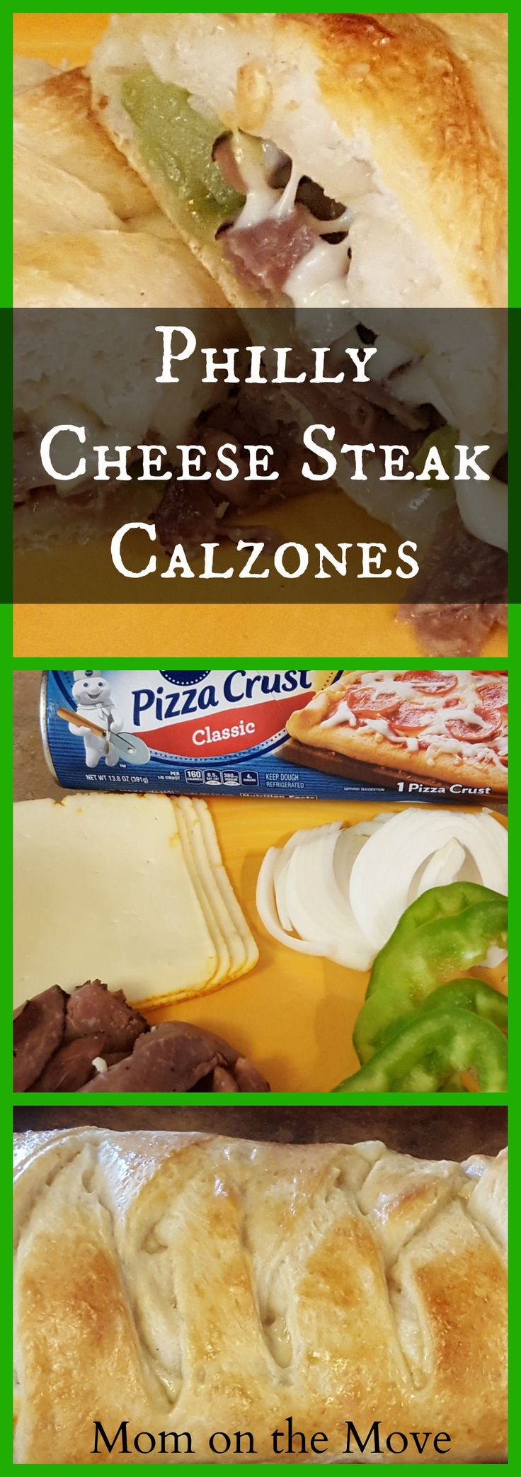 philly cheese steak calzones