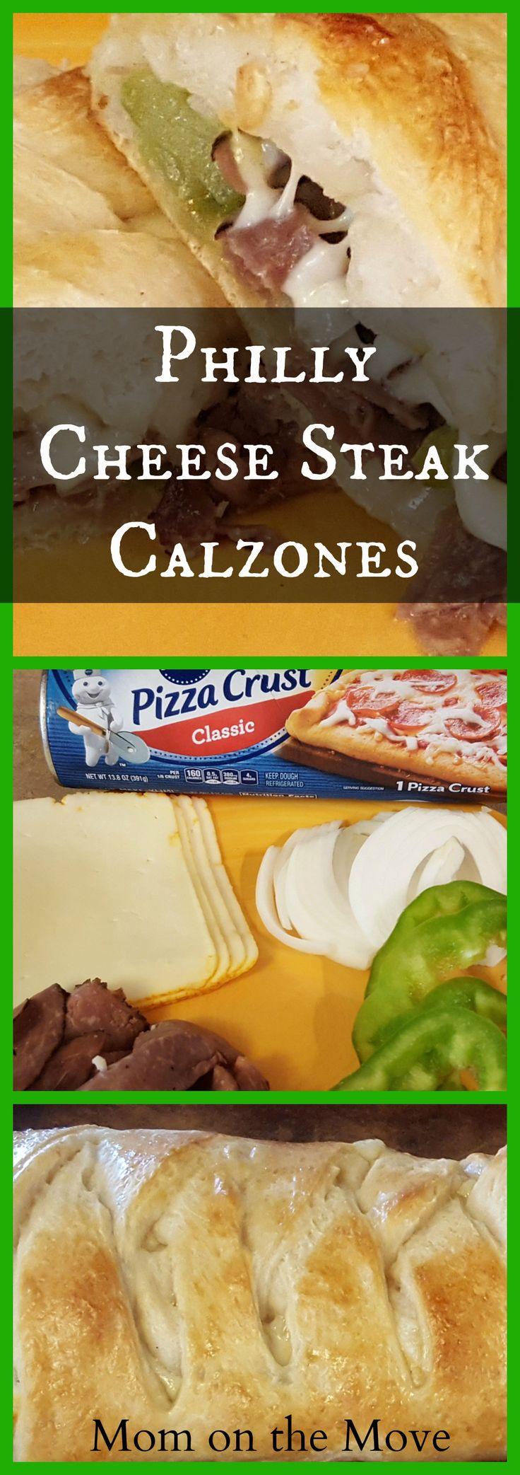philly cheese steak calzones