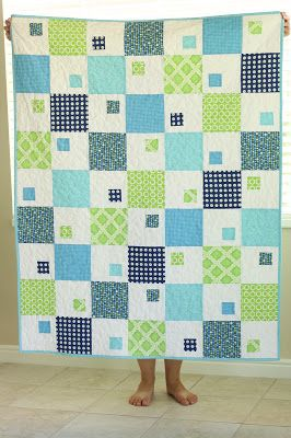 """very cute leapfrog quilt with link to pattern tutorial -- she has patterns for many simple modernist """"quilts for a cause"""""""