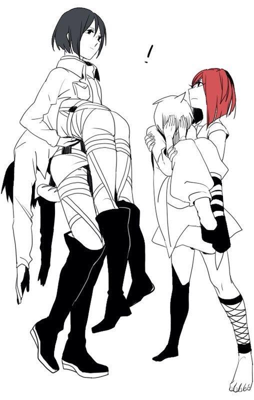 Mikasa and Eren VS Morgiana and Alladin | lol Alladin is so embarrassed | Attack on Titan and Magi: The Labyrinth (Kingdom) of Magic Anime Crossover