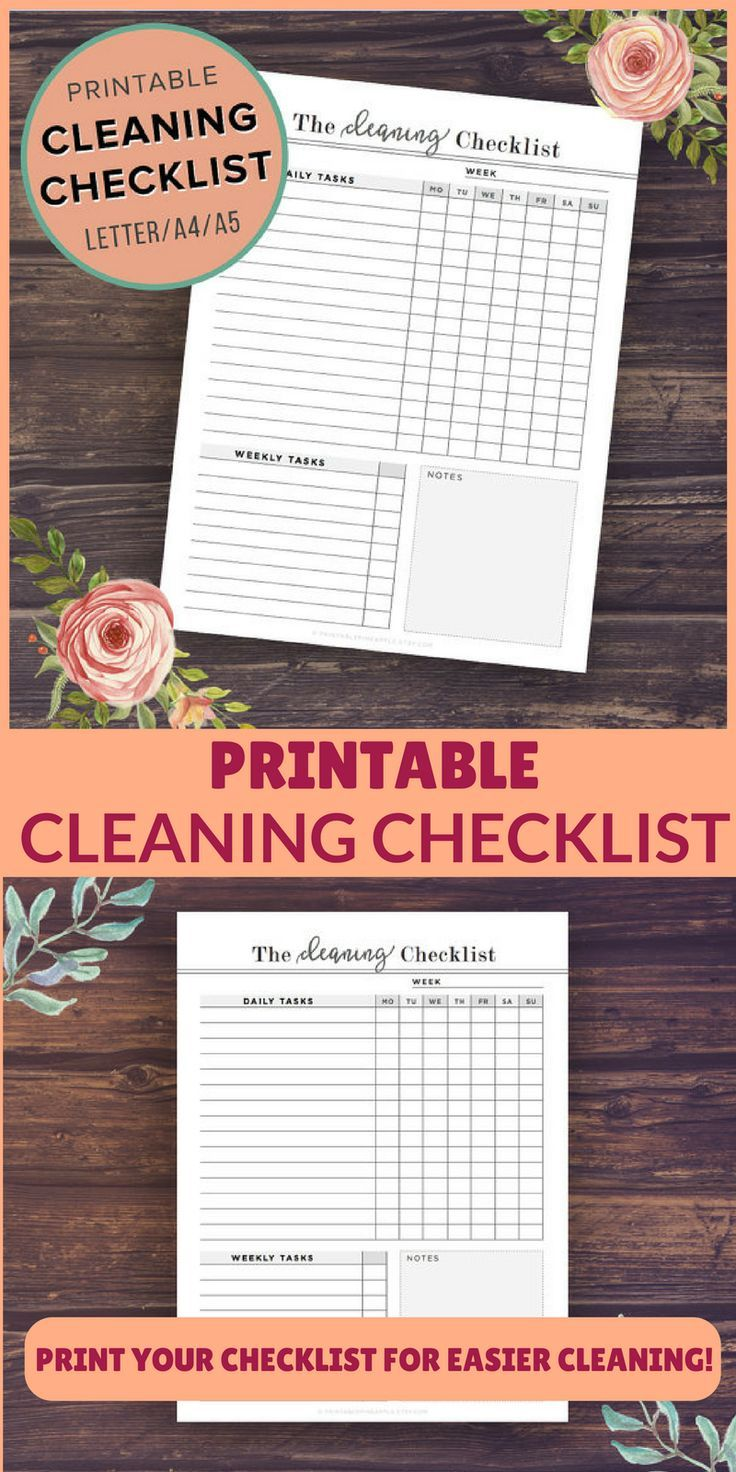 Struggling to keep a clean house? Use this printable cleaning checklist to set up a cleaning schedule and checklist perfect for your life! #ad   clean house   cleaning checklist   cleaning house   chore checklist   spring cleaning   cleaning schedule   cleaning routine  