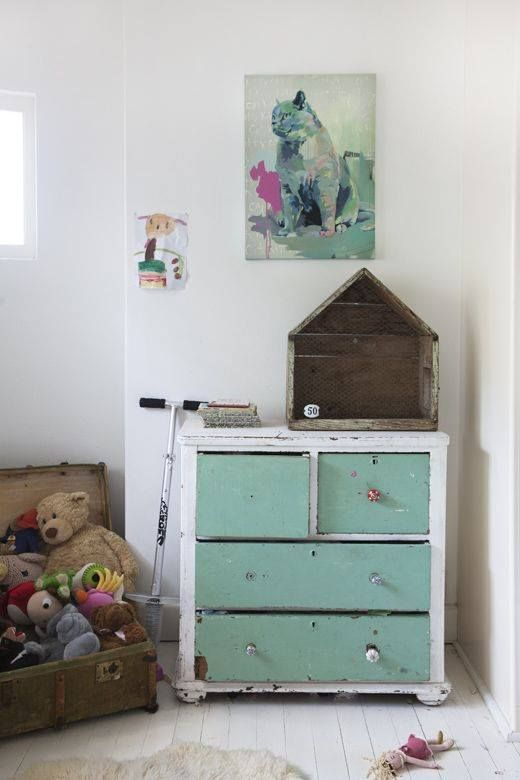 reclaimed furniture and subdued hues