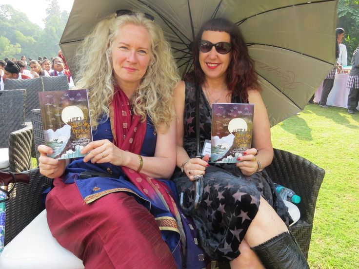 Kirsty Murray & Isobelle Carmody in Delhi, November 2014 for the launch of the Indian edition of Eat the Sky, Drink the Ocean held at the Australian High Commission