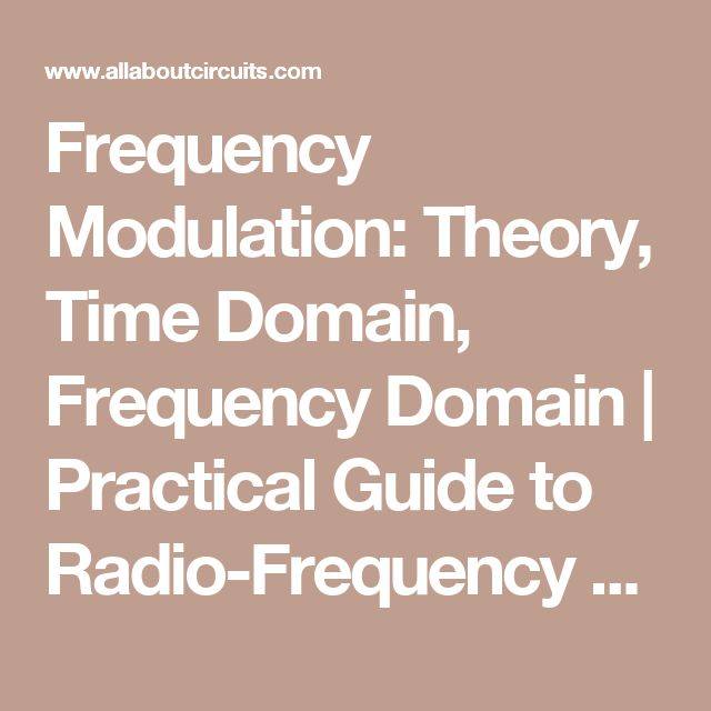 Frequency Modulation: Theory, Time Domain, Frequency Domain | Practical Guide to Radio-Frequency Analysis and Design