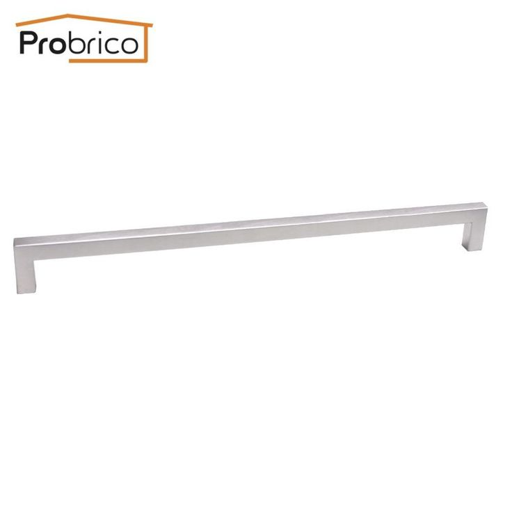Probrico 100 Pcs Square Bar Handle Stainless Steel 12Mm*12Mm Hole Spacing 320Mm Cabinet Knob Pull Pddj27Hss320