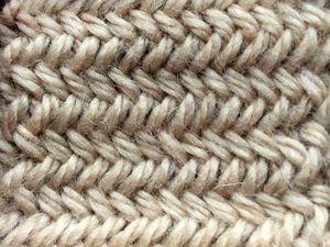 Вяжем красивый и простой узор «елочка» спицами | Ярмарка Мастеров - ручная работа, handmade