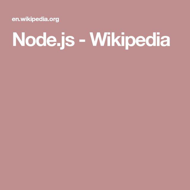 Node.js - Wikipedia