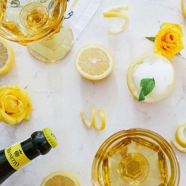 Frozen bubbly lemonade.
