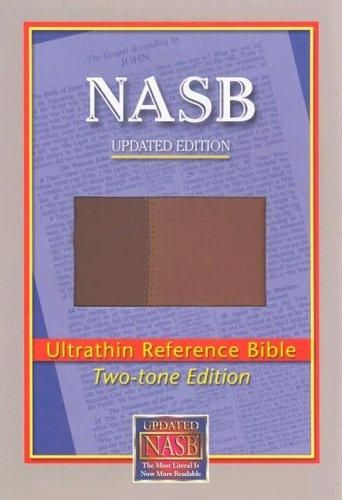 Brown/Light Brown Cloth - NASB Ultrathin Reference Bible