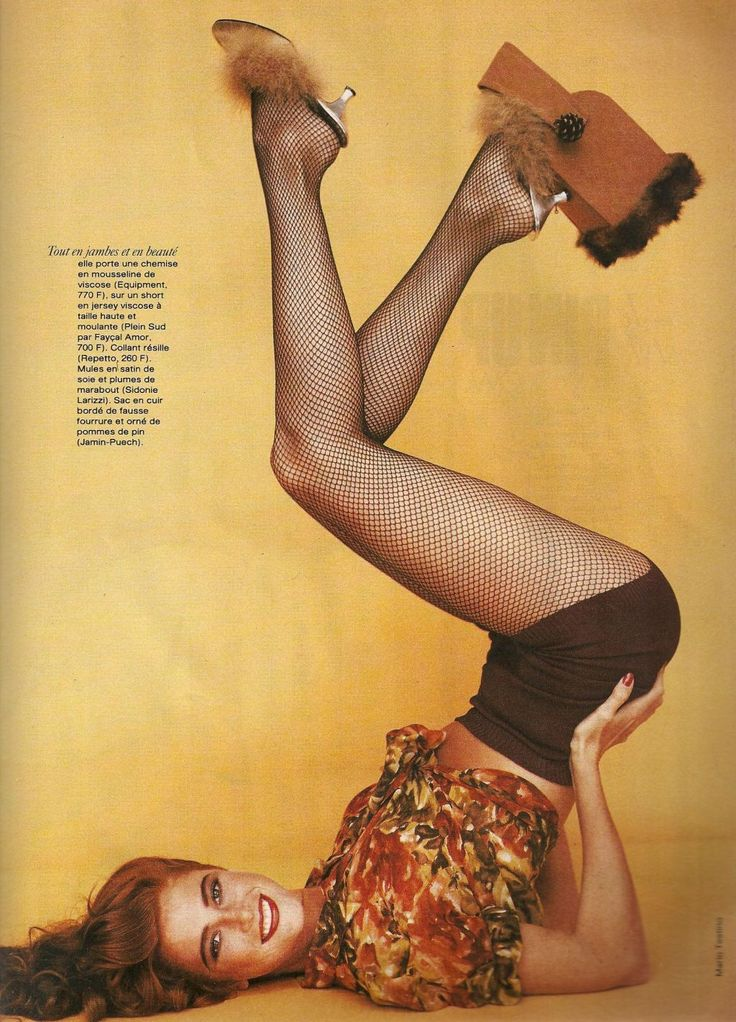 "Angie Everhart - Elle France Feb 1991 ""Le Pin-up Style"""