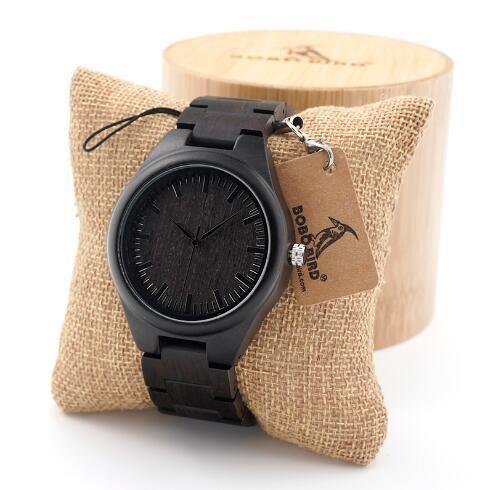 Men's Wooden Watch - Black Edition
