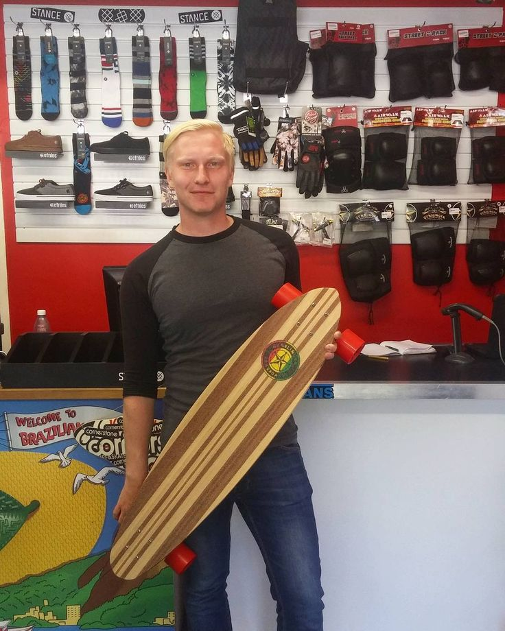 "We're hyped to have been able to hook the dude Martin up with a fresh 40"" @gunslinger_sa Rasta Pin Complete to get around town on! Enjoy it skate safe & stay stoked mate!  Welcome to the #csskateshopfam!   #csskateshop x #gunslingerlongboards #gunslingerwheels"