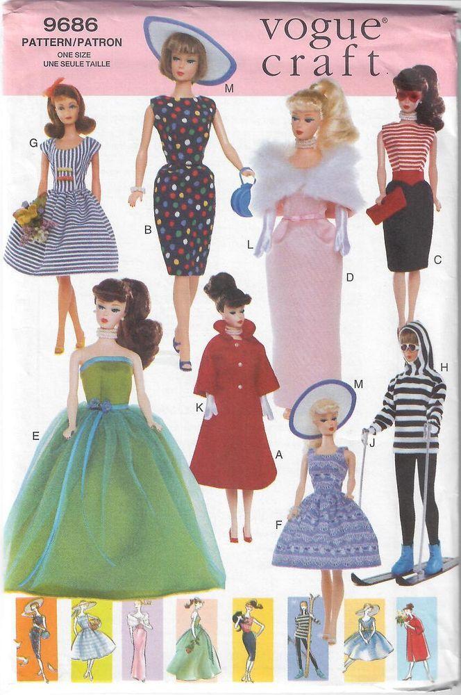 "Black Bra /& 4 Styles of Panties PATTERN /& KIT fits 11 1//2/"" Fashion Dolls Barbie"