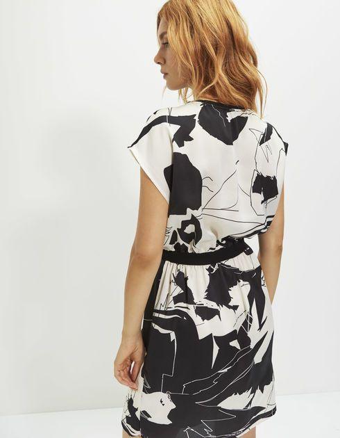 2e3c167679d165 IKKS Bedrukte damesjurk (BI30575-02). Shop nu en ontdek de laatste Franse  mode en accessoire nu in de IKKS officiële online winkel!