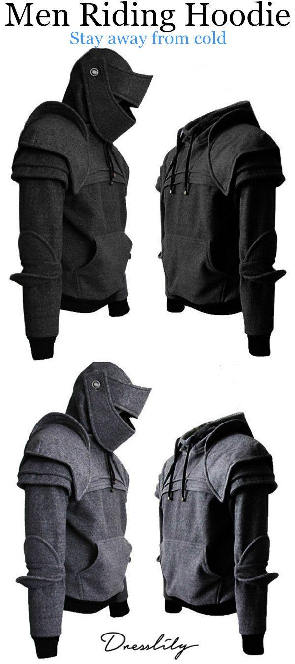 quality design ea759 02262 65% OFF. Men s Hoodie Retro Elbows Drawstring Solid Color.  dresslily   menfashion