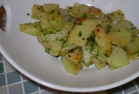 Sauteed Chayote With Garlic and Herbs