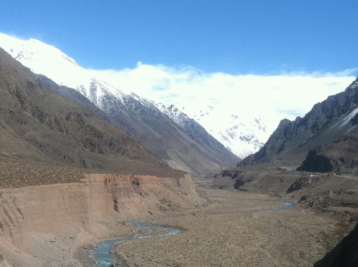 Mendoza, Argentina.  I took this traveling from Mendoza, Argentina to Santiago, Chile.  Most beautiful bus ride in my life.