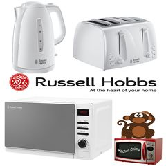 White Microwave Kettle & Toaster Sets