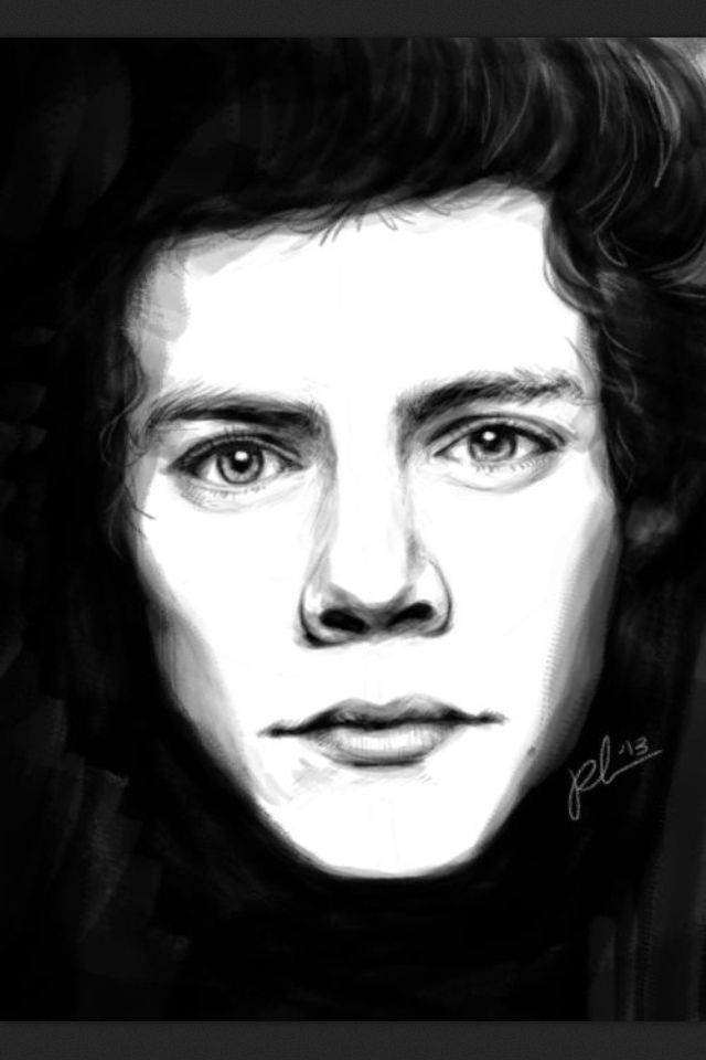 Harry Styles One Direction Drawing
