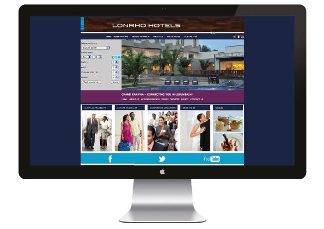 Lonrho Hotels - Grand Karavia Hotel - Web Design by Angus Ewing and Developed by Lynda Ewing at FUZE!  www.fuze-sa.com