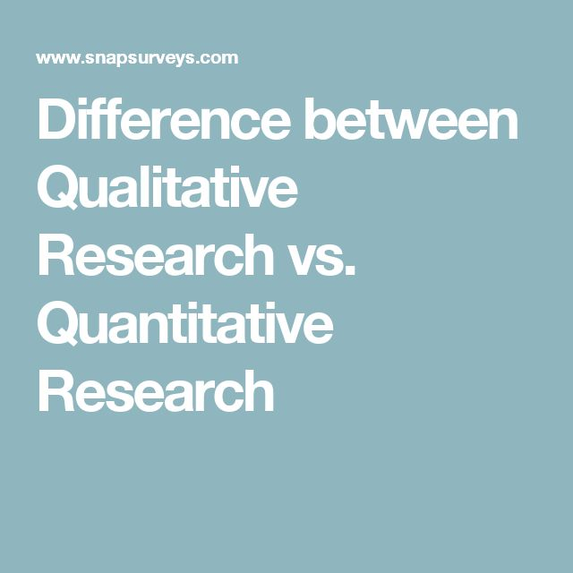 Difference between Qualitative Research vs. Quantitative Research