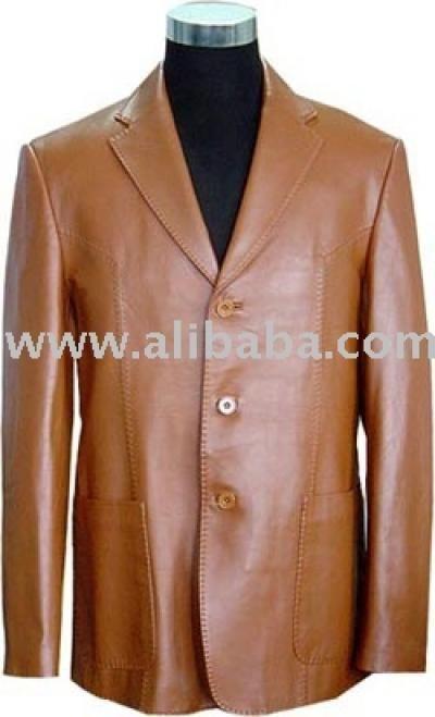 Men Leather Blazer (Мужчин кожа Blazer)