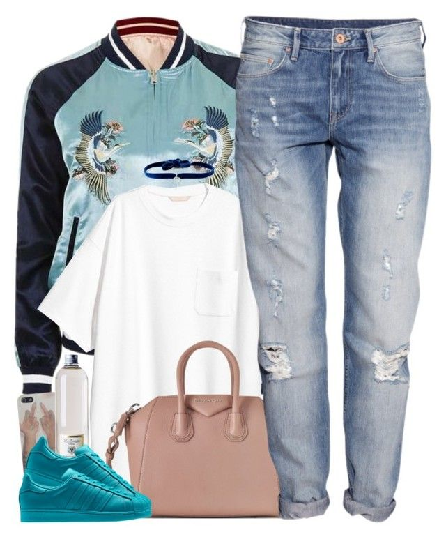 """""""Fickle"""" by oh-aurora ❤ liked on Polyvore featuring Topshop, Dr. Vranjes, Givenchy, adidas, H&M and DANNIJO"""