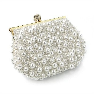 Cream Pearl Evening Bag from La Mac.