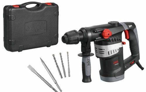 Skil 1766AK Marteau Perforateur Burineur SDS Plus (1500W, 4,5 J, Set d'accessoires 5 pièces, Coffret): Type mandrin sds+ Cap.…