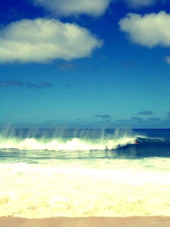 Pipeline Beach, North Shore, Oahu. One of the best surfing spots in the entire world.