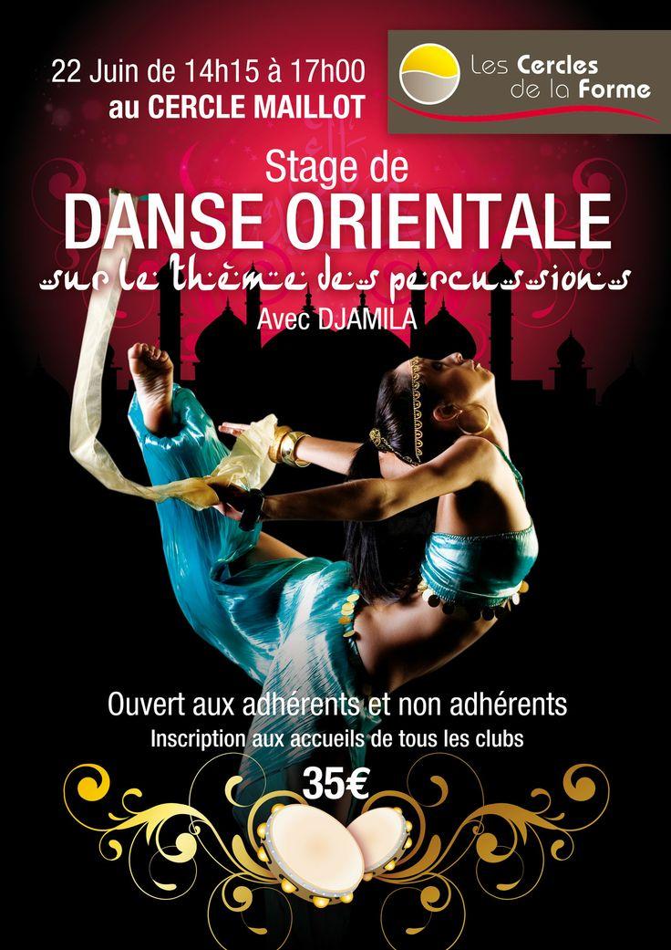 Stage de danse orientale au Cercle Maillot paris 17 #danseorientale http://www.cerclesdelaforme.com/fr/cours-Danse-orientale-paris/  #percussions #djamila #cdlf #paris #stage