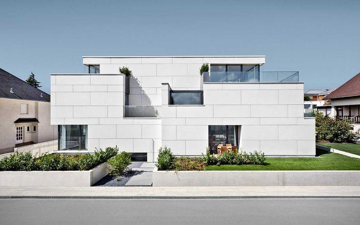 EQUITONE facade materials. Apartment building of 7 units in Luxemburg. Metaform architecture. #architecture #material #facade www.equitone.com