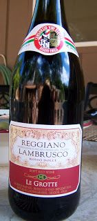 The Edible Life: Reggiano Lambrusco Le Grotte Rosso Dolce - great wine! Stock up when at Trader Joes.
