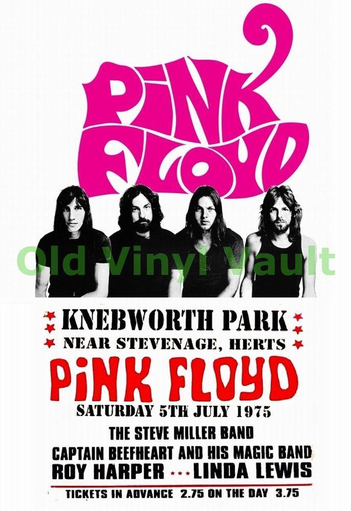 Pink Floyd concert poster Knebworth Park 1975 A3 Size Repo | eBay