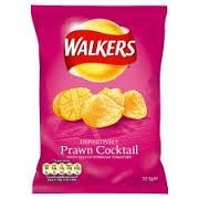 Walkers Prawn Cocktail Crisps (32.5g)  BEST BY 2/6/2016