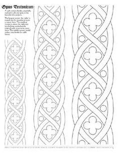 medieval embroidery patterns - Google Search