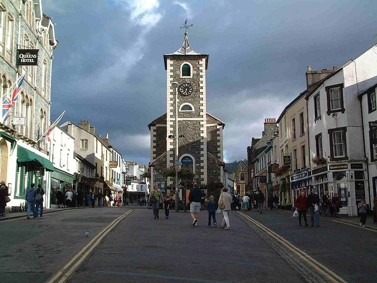 keswick, market square. (A travel pin which I've actually visited -- many times!!)