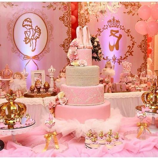 b2b42093f38 Festa Bailarina de luxo com mesa delicada | BALET's party ...