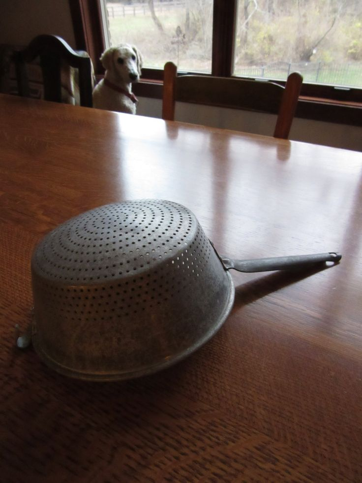 Mid-Century Wear-Ever No. 931 Aluminum Colander, Strainer, Vintage Rustic Kitchen,Metal Pots & Pans, Farmhouse Shabby Chic, Retro Industrial by BarefootAndCivil on Etsy