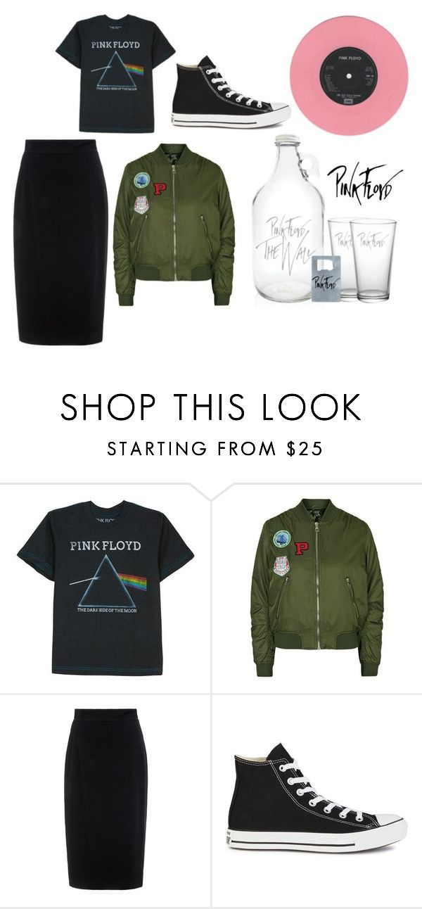 """""""Pink Floyd"""" by inndahwulan on Polyvore featuring Floyd, Topshop, Raoul and Converse"""