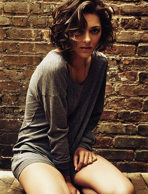 Curly bob hair. Marion is so beautiful! Love her!