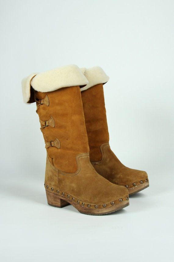 Xuz handgemaakte Klompen laarzen sandalen uit hout en door yosha123, €129.00