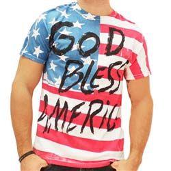 God Bless America US Flag T-shirt