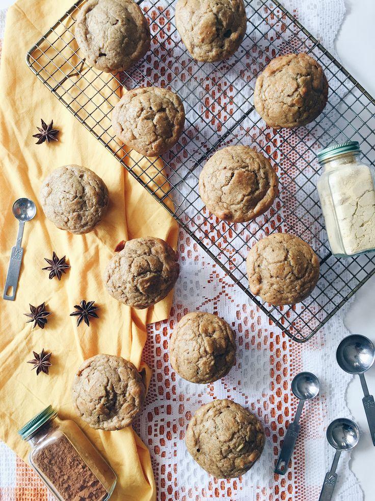 Muffins à la citrouille, au yogourt, aux noix, à l'érable et aux épices