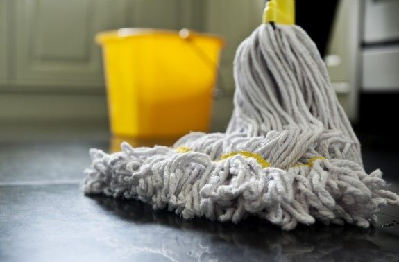 How to clean a granite or marble floor