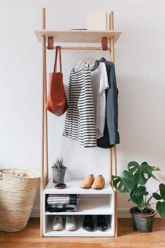 tiny freestanding closet.
