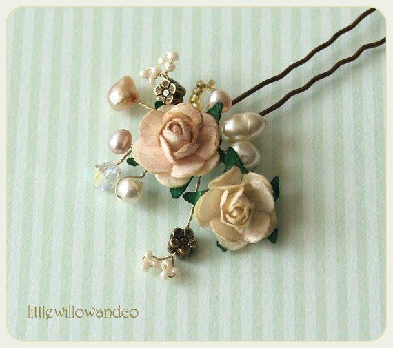 Wedding Hair Pin Pearl Hair Pin Bridal Hair by LittleWillowandCo, £13.95