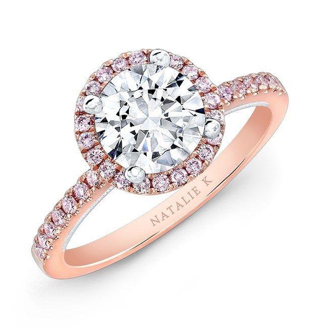 Rose-White-Gold-Pink-Diamond-Engagement Ring